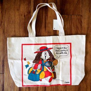 VTG NWT 1994 Cathy Guisewite Studio Canvas Tote
